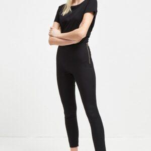Glass Stretch Skinny Trousers - black