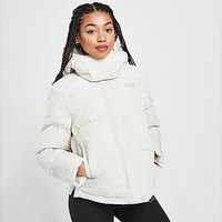 Emporio Armani EA7 Logo Padded Jacket - White - Womens