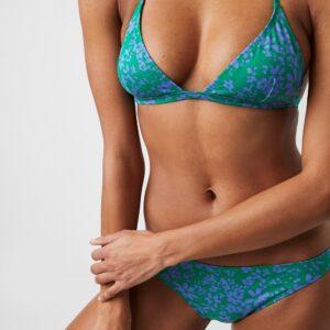 Flores Aura Recycled Bikini Top - palm green/bay blue