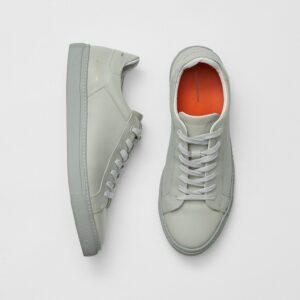 Lars Logo Trainers - light grey leather