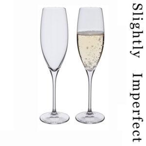 Wine Master Flute Champagne Glasses - Slightly Imperfect