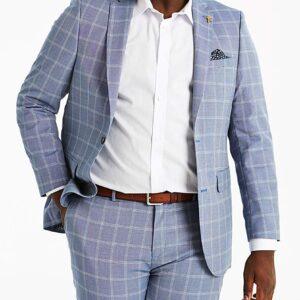 Delta Blue Check Suit Jacket
